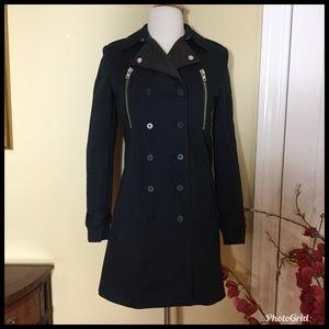 The Kooples Jackets & Coats - The Kooples Black  Punky  Trench Jacket. NWT